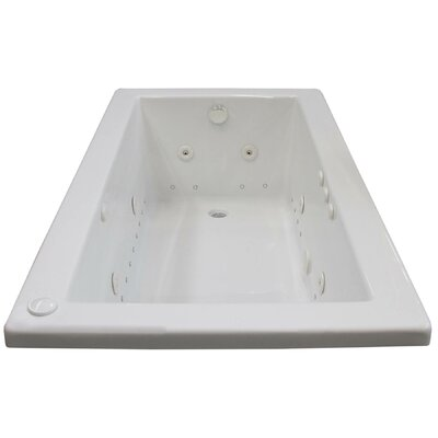 Guadalupe 59.5 x 31.63 Rectangular Air & Whirlpool Jetted Bathtub with Drain Drain Location: Right