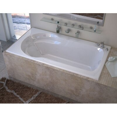 Grenada 59.13 x 31.5 Rectangular Air Jetted Bathtub with Drain Drain Location: Right