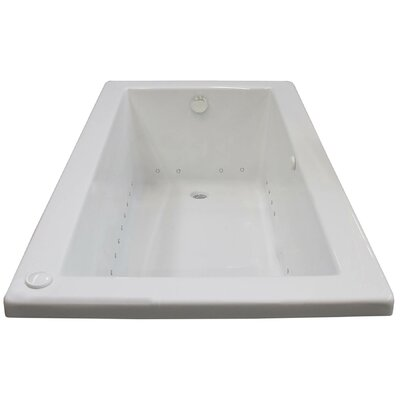 Guadalupe 60 x 30 Rectangular Air Jetted Bathtub with Drain Drain Location: Right