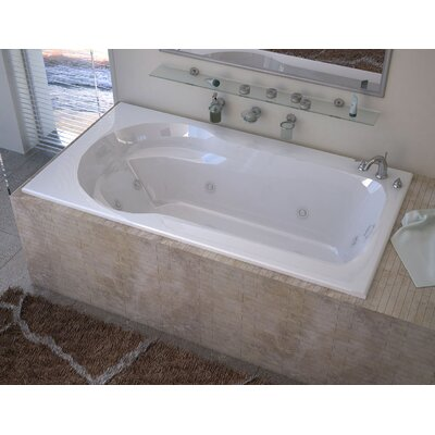 Grenada 59.13 x 31.5 Rectangular Whirlpool Jetted Bathtub with Drain Drain Location: Left