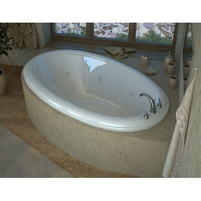 Martinique 78 x 44 Oval Air & Whirlpool Jetted Bathtub with Center Drain