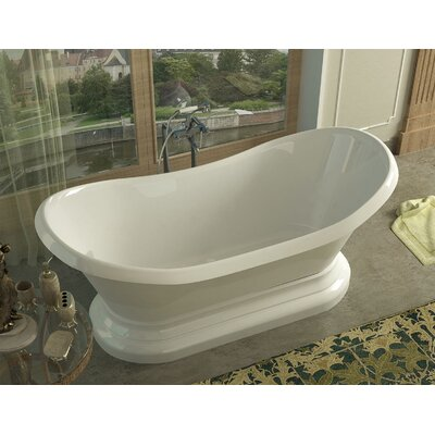 Grace 70.75 x 32.75 Oval Freestanding Soaker Bathtub with Center Drain