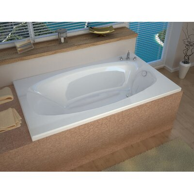 St. Kitts 71 x 35.5 Rectangular Whirlpool Bathtub with Reversible Drain
