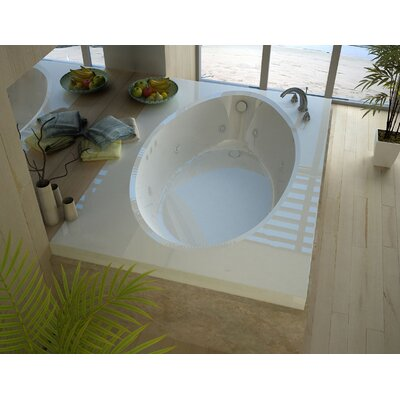 Bermuda 71.25 x 42 Rectangular Whirlpool Jetted Bathtub with Drain Drain Location: Right