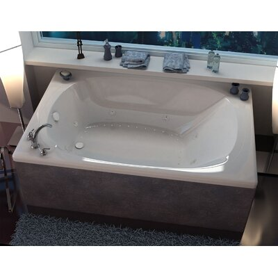 St. Lucia 77.87 x 47.5 Rectangular Air & Whirlpool Jetted Bathtub with Center Drain