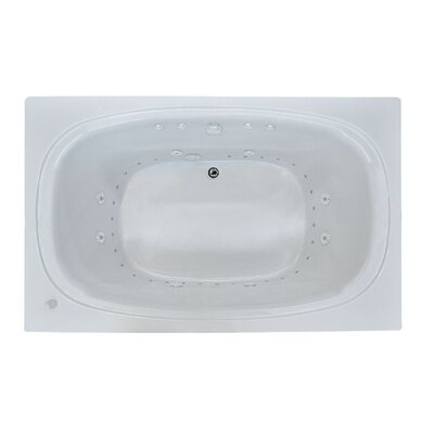 St. Kitts 71 x 35.5 Rectangular Air & Whirlpool Jetted Bathtub with Drain Drain Location: Right
