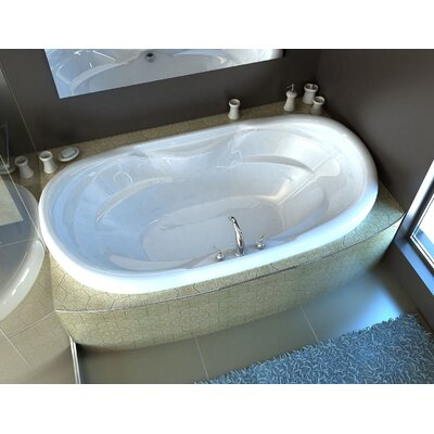 Antigua 70 x 41 Oval Whirlpool Jetted Bathtub with Center Drain