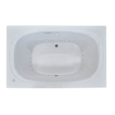 St. Kitts Dream Suite 65.75 x 42.25 Rectangular Air & Whirlpool Jetted Bathtub Drain Location: Right