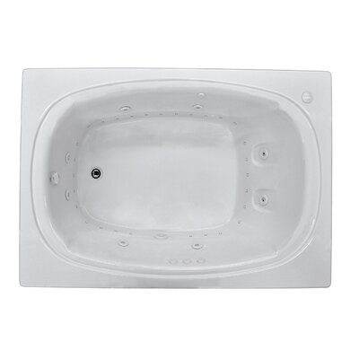 St. Lucia 71.5 x 47.63 Rectangular Air & Whirlpool Jetted Bathtub with Drain Drain Location: Right