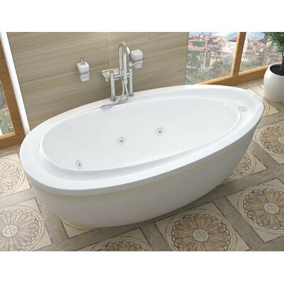 Capricia 71 x 38.37 Oval Freestanding Whirlpool Jetted Bathtub