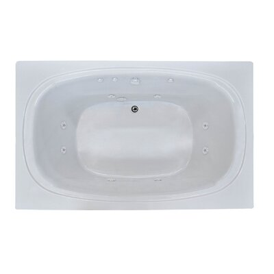 St. Kitts 71 x 35.5 Rectangular Whirlpool Jetted Bathtub with Drain Drain Location: Right