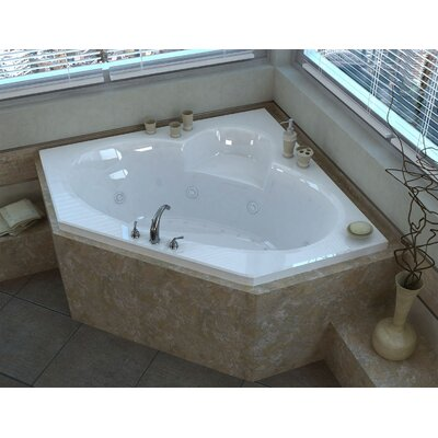 Curacao 58 x 58 Corner Air & Whirlpool Jetted Bathtub with Center Drain