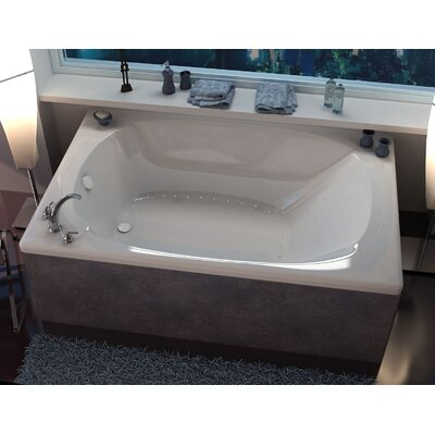 St. Lucia 77.87 x 47.5 Rectangular Air/Whirlpool Jetted Bathtub with Center Drain