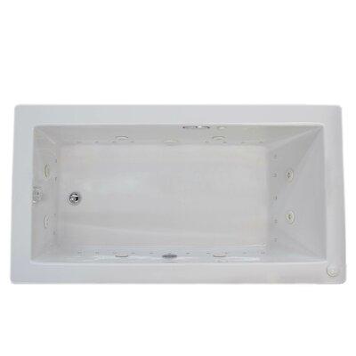 Guadalupe Dream Suite 72 x 42 Rectangular Air & Whirlpool Jetted Bathtub Drain Location: Left