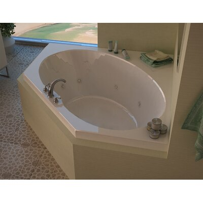 Tortola 58 x 58 Corner Air & Whirlpool Jetted Bathtub with Center Drain