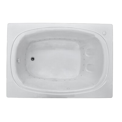 St. Lucia 71.5 x 47.63 Rectangular Air Jetted Bathtub with Drain Drain Location: Left