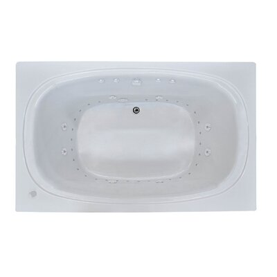 St. Kitts 71 x 41.25 Rectangular Air & Whirlpool Jetted Bathtub with Drain Drain Location: Right
