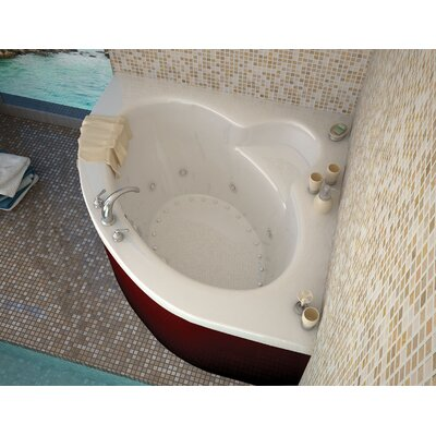 Trinidad 66.5 x 84 Corner Air & Whirlpool Jetted Bathtub with Center Drain