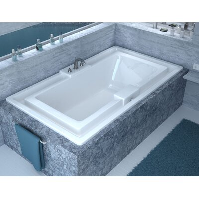 Barbados 78 x 45 Endless Flow Whirlpool Bathtub with Center Drain