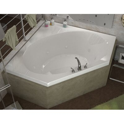 St. Barts 63.25 x 85.25 Corner Air & Whirlpool Jetted Bathtub with Center Drain