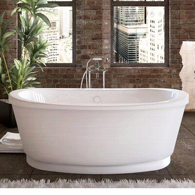 Dhoni 65.37 x 35.37 Freestanding Soaking Bathtub