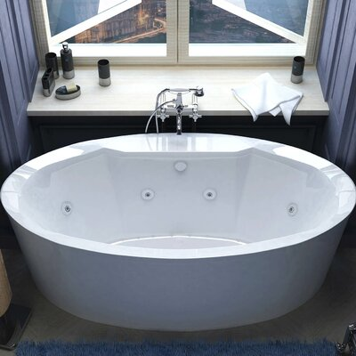 Salina 67.18 x 33.43 Oval Air & Whirlpool Water Jetted Bathtub