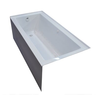 Castle 60 x 30 Front Skirted Air Massage Bathtub with Drain Drain Location: Left