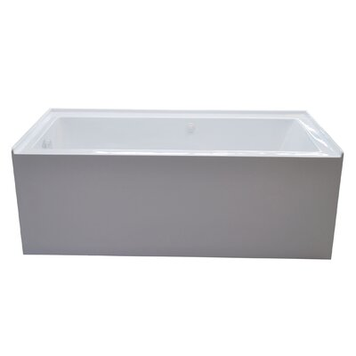 Castle 60 x 32 Front Skirted Air Massage Bathtub with Drain Drain Location: Left