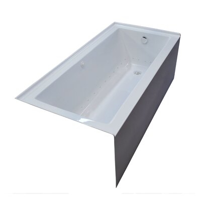 Castle 60 x 30 Front Skirted Air Massage Bathtub with Drain Drain Location: Right