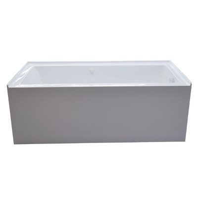 Castle 60 x 32 Front Skirted Air Massage Bathtub with Drain Drain Location: Right