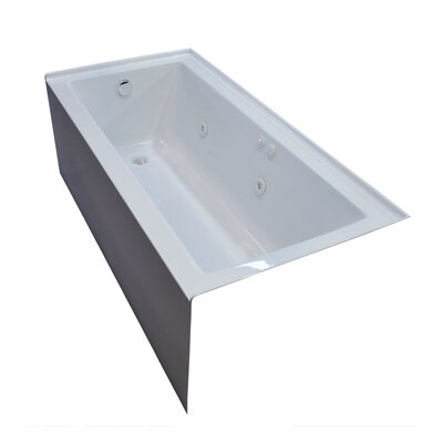 Castle 60 x 30 Front Skirted Whirlpool Bathtub Drain Location: Left