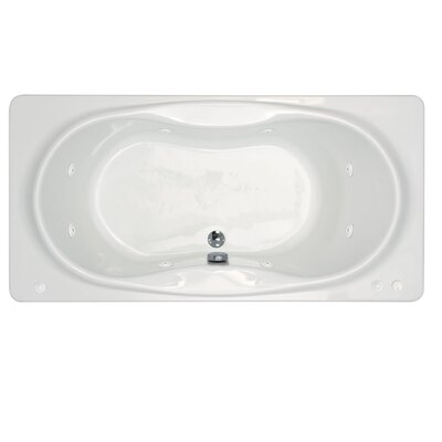 "Spa Escapes Cayman 42 x 72 x 23"" Rectangular Whirlpool Jetted Bathtub - Finish: White, Trim Finish: Polished Chrome, Pump Location: Right at Sears.com"