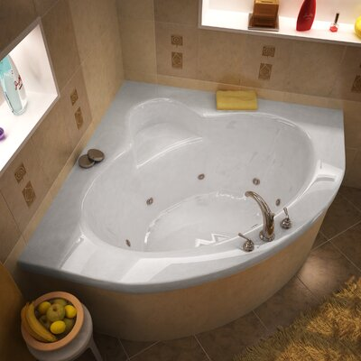 "Spa Escapes Trinidad 60 x 60 x 23"" Corner Whirlpool Jetted Bathtub - Finish: White, Trim Finish: White, Pump Location: Right at Sears.com"