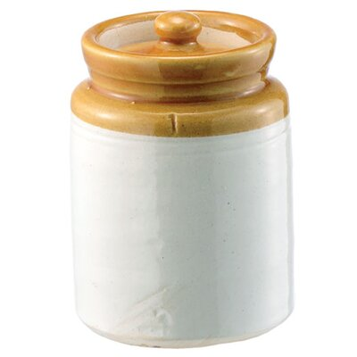 Crockery Pickling Kitchen Canister (Set of 2) Size: Small