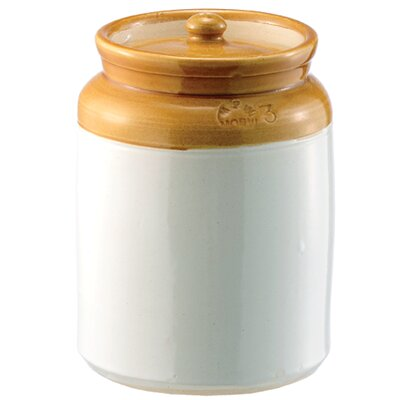 Crockery Pickling Kitchen Canister (Set of 2) Size: Medium