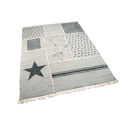 Gray Patchwork Novelty Rug Rug Size: Rectangle 5' x 7'