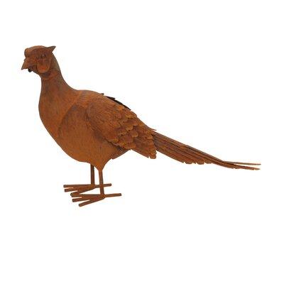 Metal Pheasant Figurine