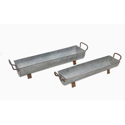 Metal Trough 2 Piece Set