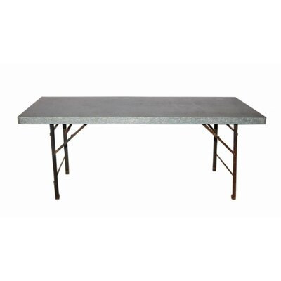 Folding Metal Picnic Table Table Size: Large