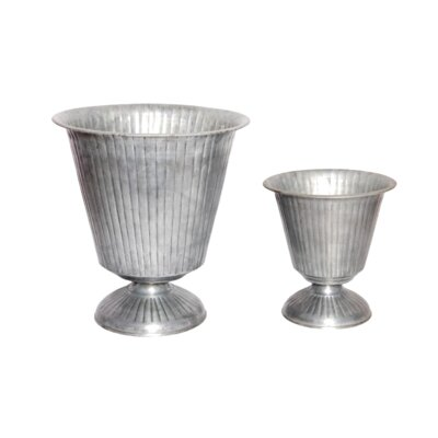 2-Piece Iron Urn Planter Set