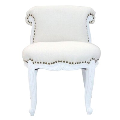 Upholstered Side Chair Color: White