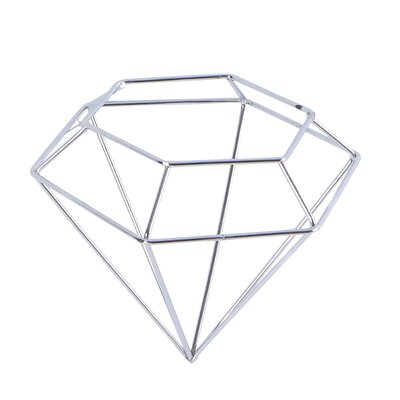 Hide Diamond Christmas Ornament (Set of 6) Color: Silver