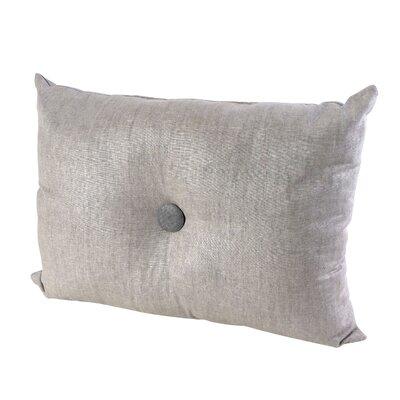 Button Throw Pillow Color: White