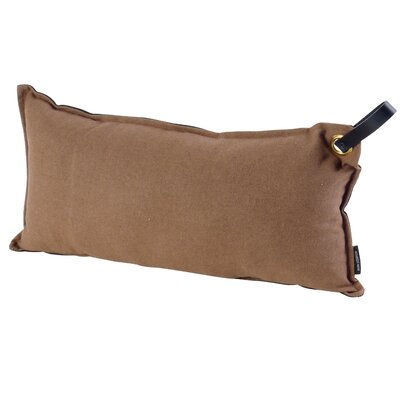 Chalmer Throw Pillow with Handle Color: Brown