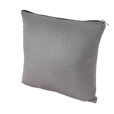 Throw Pillow Size: 23.5 H x 23.5 W x 1 D, Color: Grey
