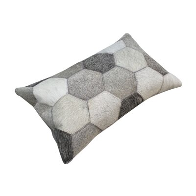 Hide Hex Patch Leather Pillow Cover