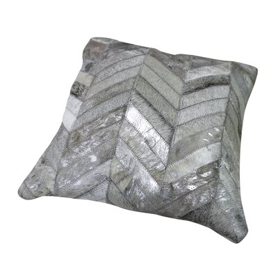Hide Chevron Patch Pillow