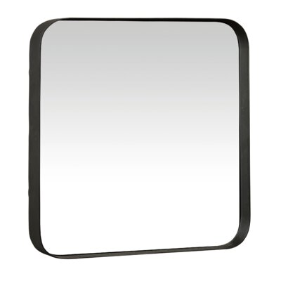 Metal And Glass Beacon Wall Mirror Finish: Black