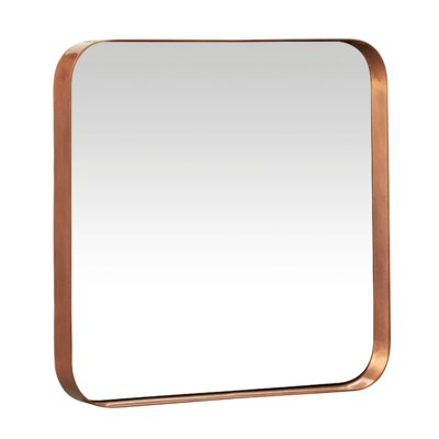 Metal And Glass Beacon Wall Mirror Finish: Copper
