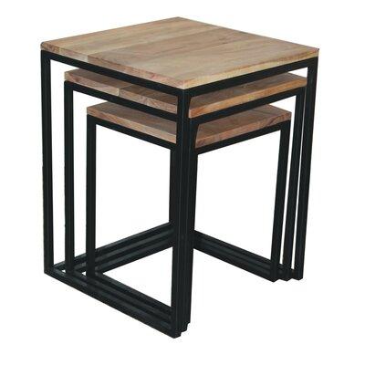 Acacia Wood 3 Piece Nesting Tables